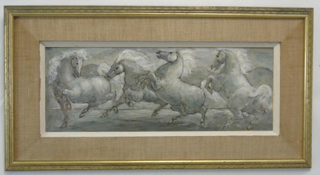Finely Painted Charles Burdick Oil on Canvas Horse