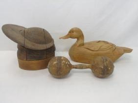 Antique & Vintage Hand Carved Wood Primitive Items