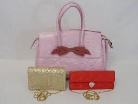 Three Ladies Handbags - Clutches & Purse