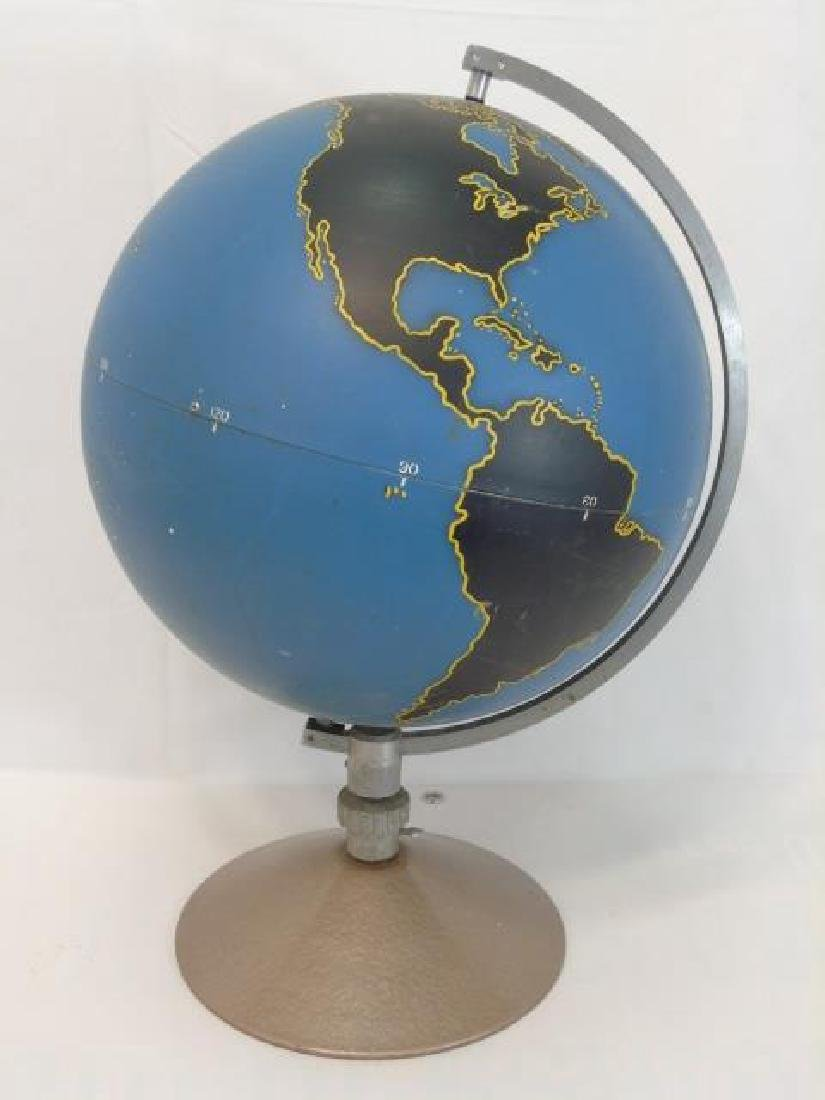 Vintage Military Globe by Denoyer Geppart on Stand