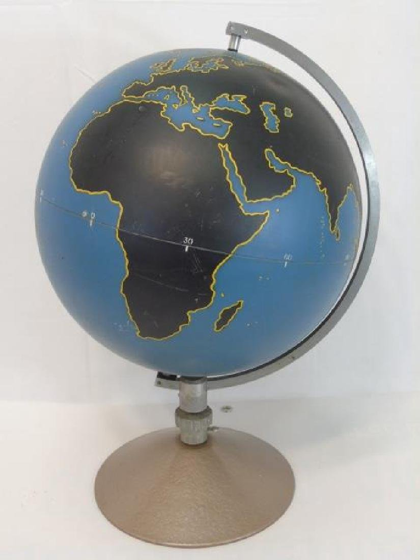 Vintage Military Globe by Denoyer Geppart on Stand - 3
