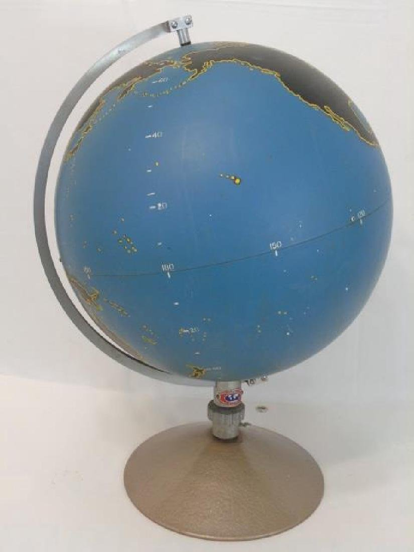 Vintage Military Globe by Denoyer Geppart on Stand - 4