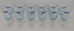 Dozen NIB Villeroy & Bosch Azure Glass Goblets