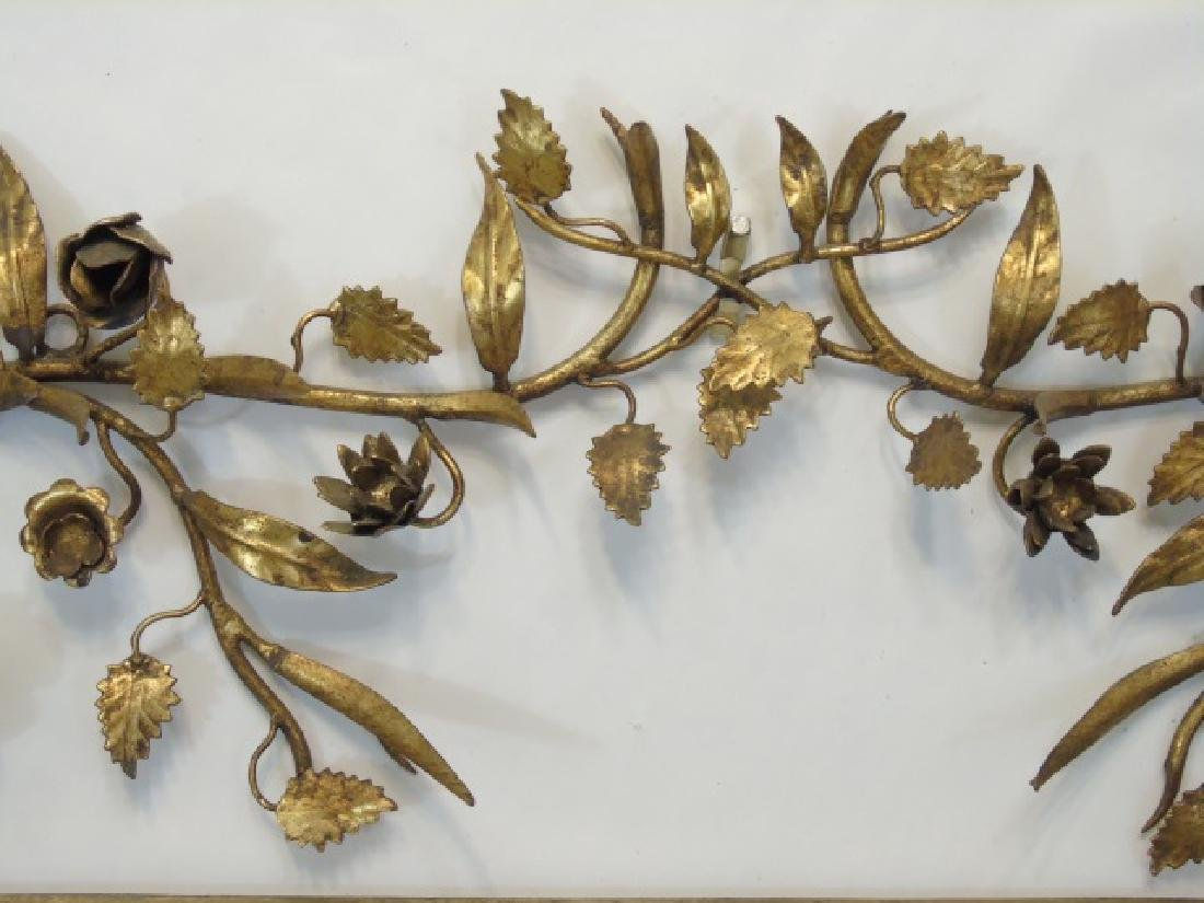 Two Gold Leaf Wrought Metal Figural Plant Holders - 4