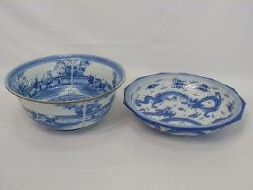 Two Hand Painted Blue & White Chinese Porcelains
