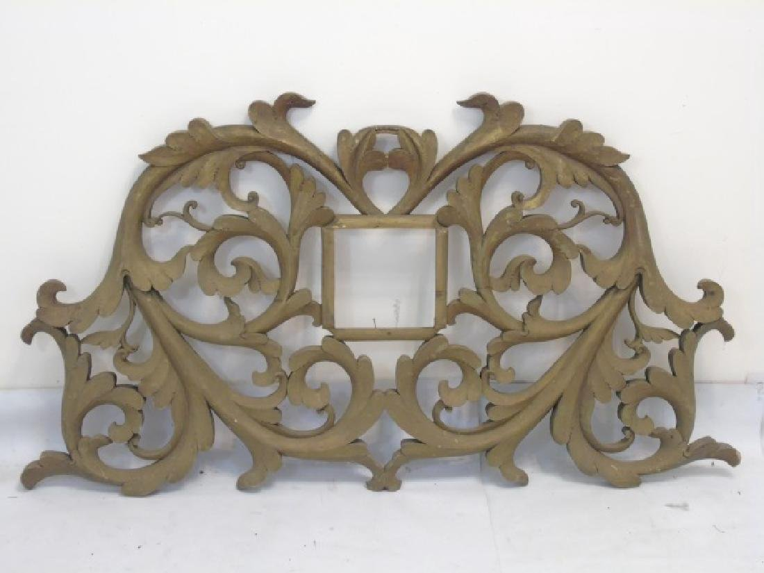 Antique Wooden Architectural Decorative Fragment