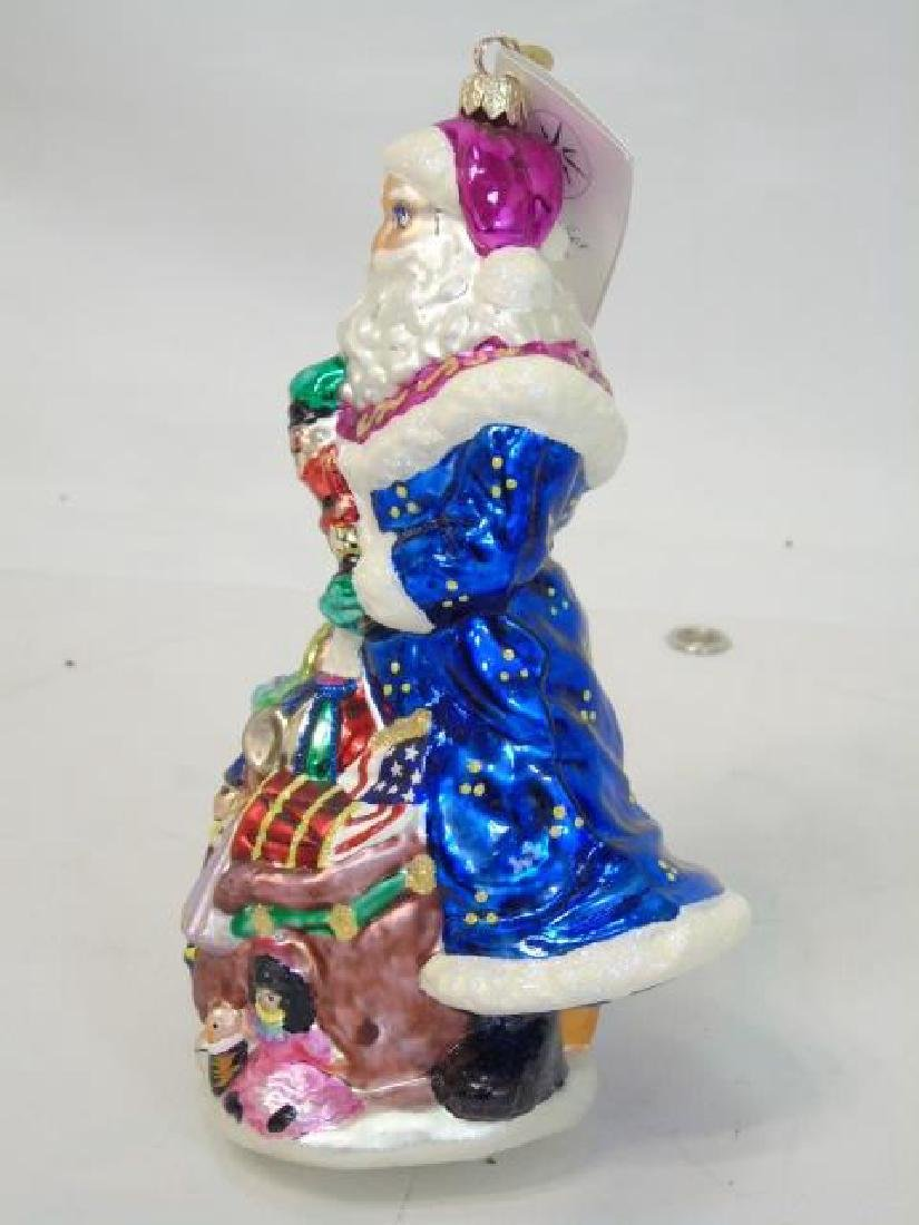 3 Boxes Blown Glass Christmas Ornaments Oz & Santa - 2