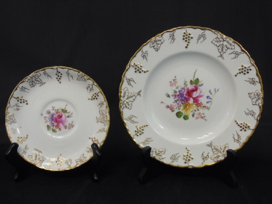 "Partial Dessert Set of Royal Crown Derby ""Vine"" - 3"