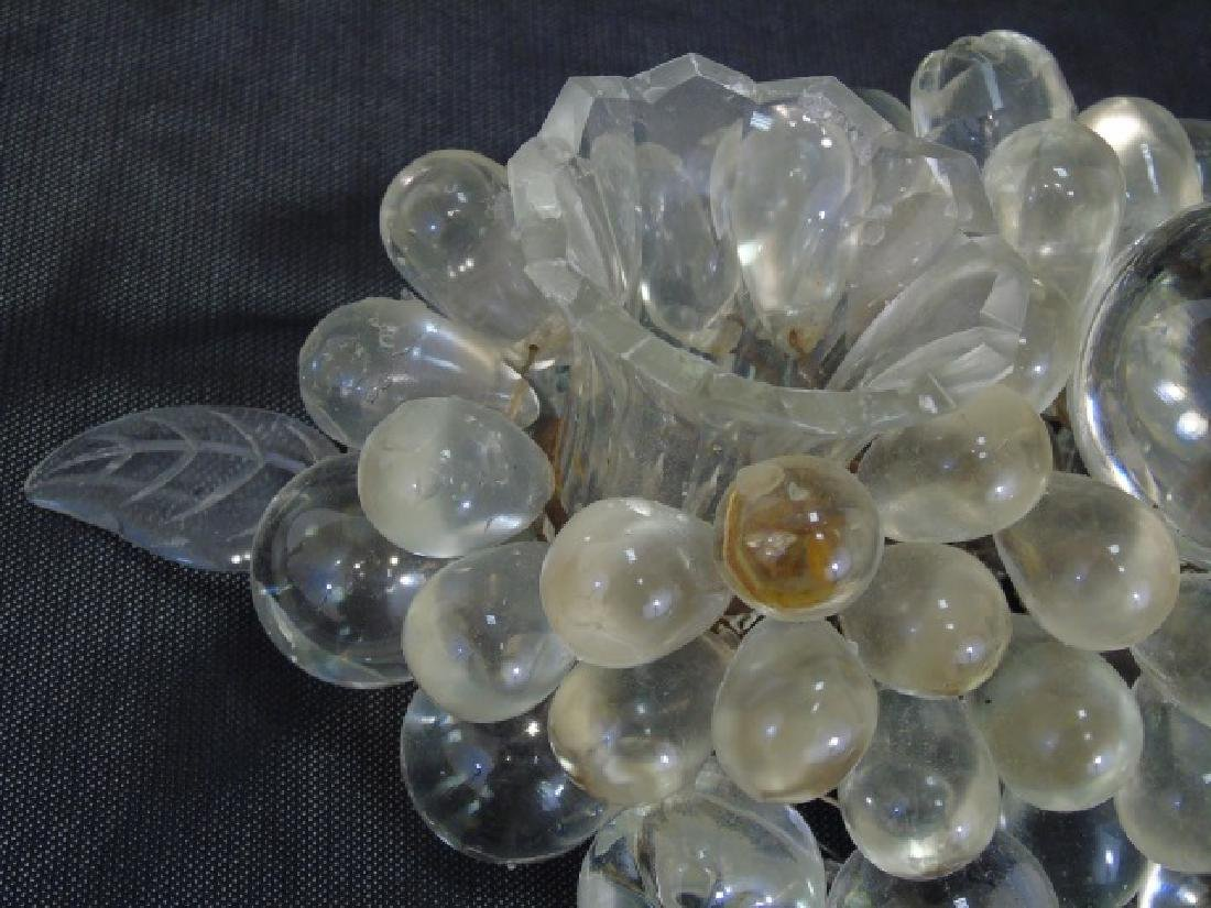Glass Candle Stand in form of Grape Cluster Leaves - 4