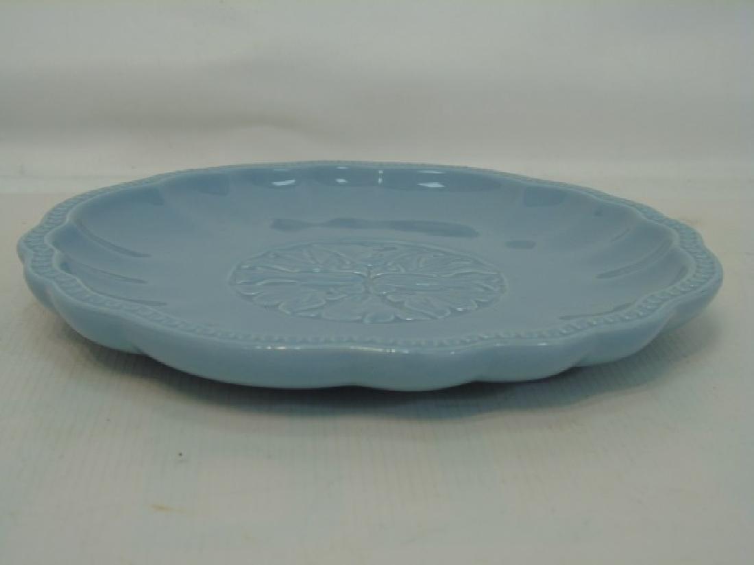 Blue Pottery Dessert Set 12 Plates & Sundae Boats - 2