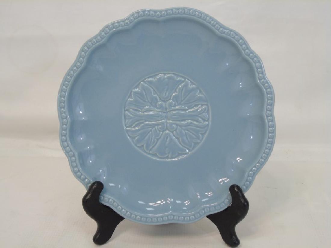 Blue Pottery Dessert Set 12 Plates & Sundae Boats - 3