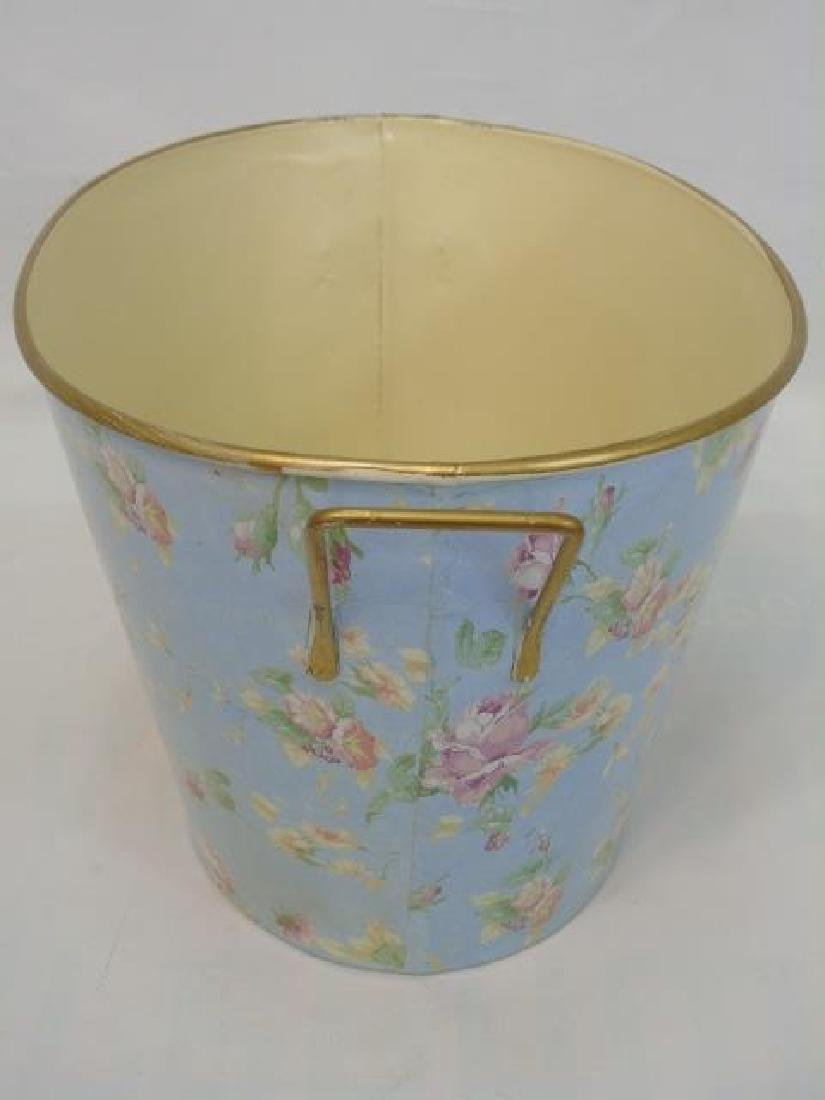 5 Painted Metal Items 2 Lunch Pails & 3 Buckets - 2