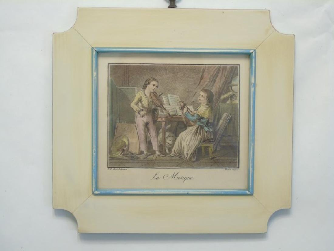 4 Antique Framed Prints of 19th C Children Playing - 2