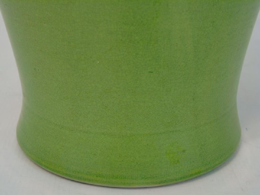 Large Green Porcelain Chinese Baluster Vase - 2