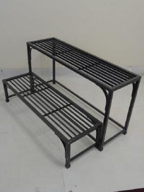 Two Tier Oil Rubbed Bronze Finish Plant Stands