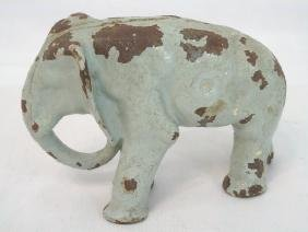 Antique Cast Iron Elephant Door Stop / Statue