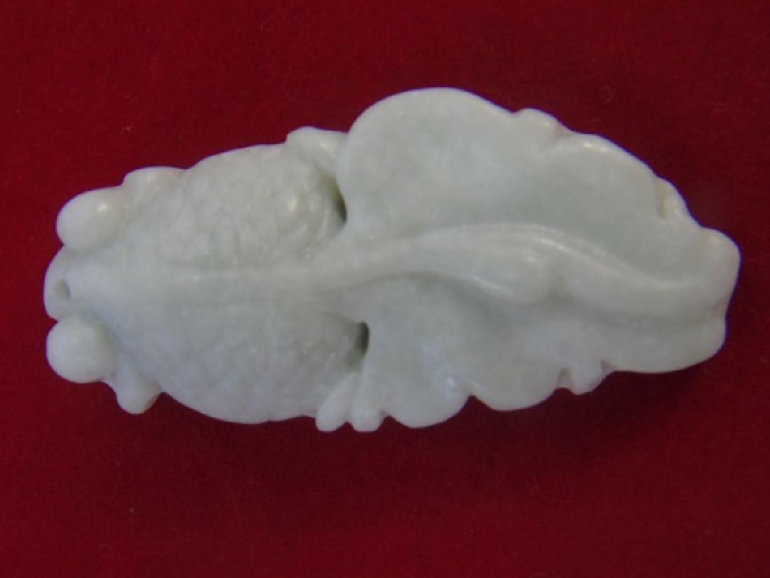 Three Carved Chinese Hardstone Koi Fish Pendants - 2