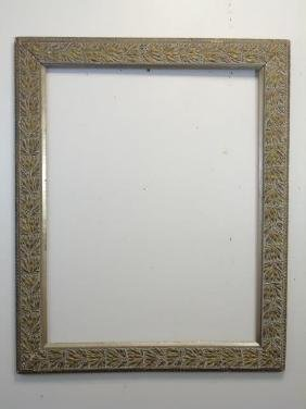Large Hand Carved Gilded Gesso Picture Frame