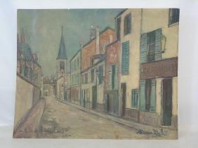 Print on Board Maurice Utrillo Eglise de Strins