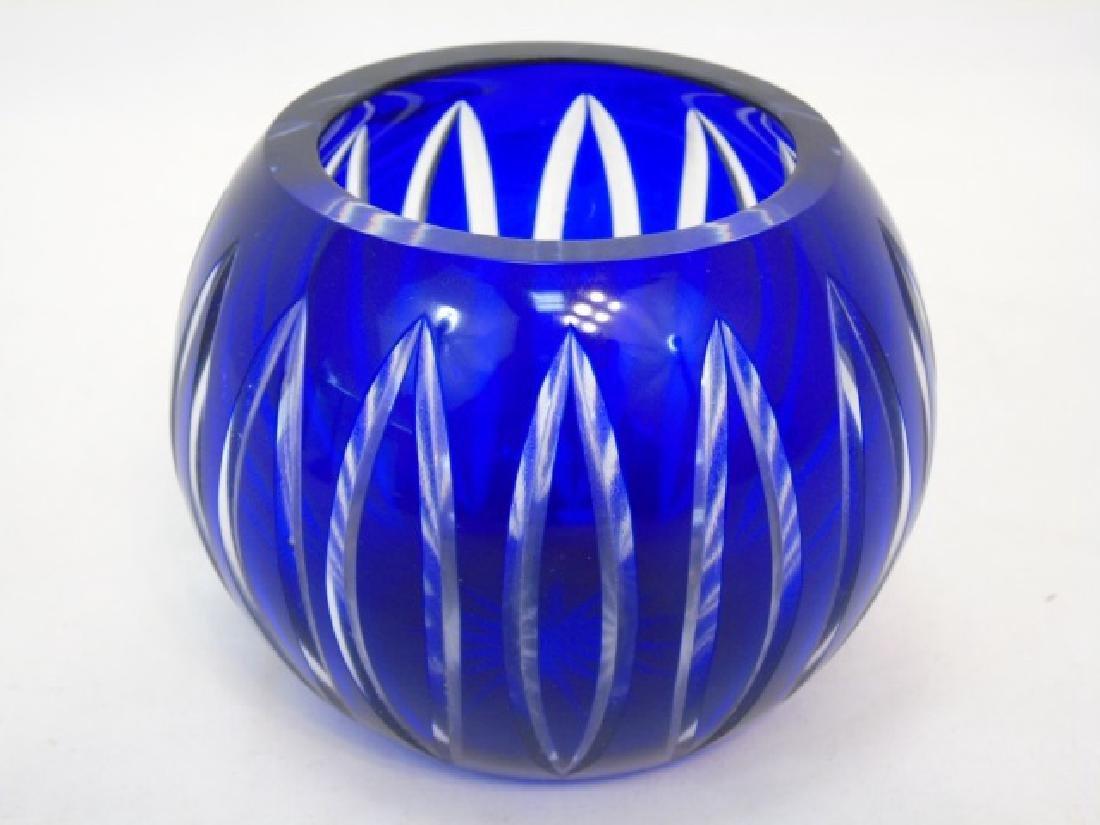 5 Antique & Vintage Cobalt Blue Glass Items - 2