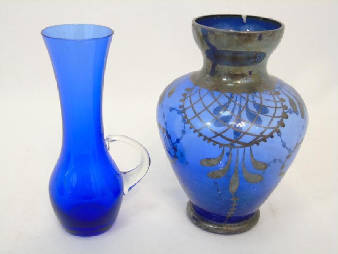 5 Antique & Vintage Cobalt Blue Glass Items - 3
