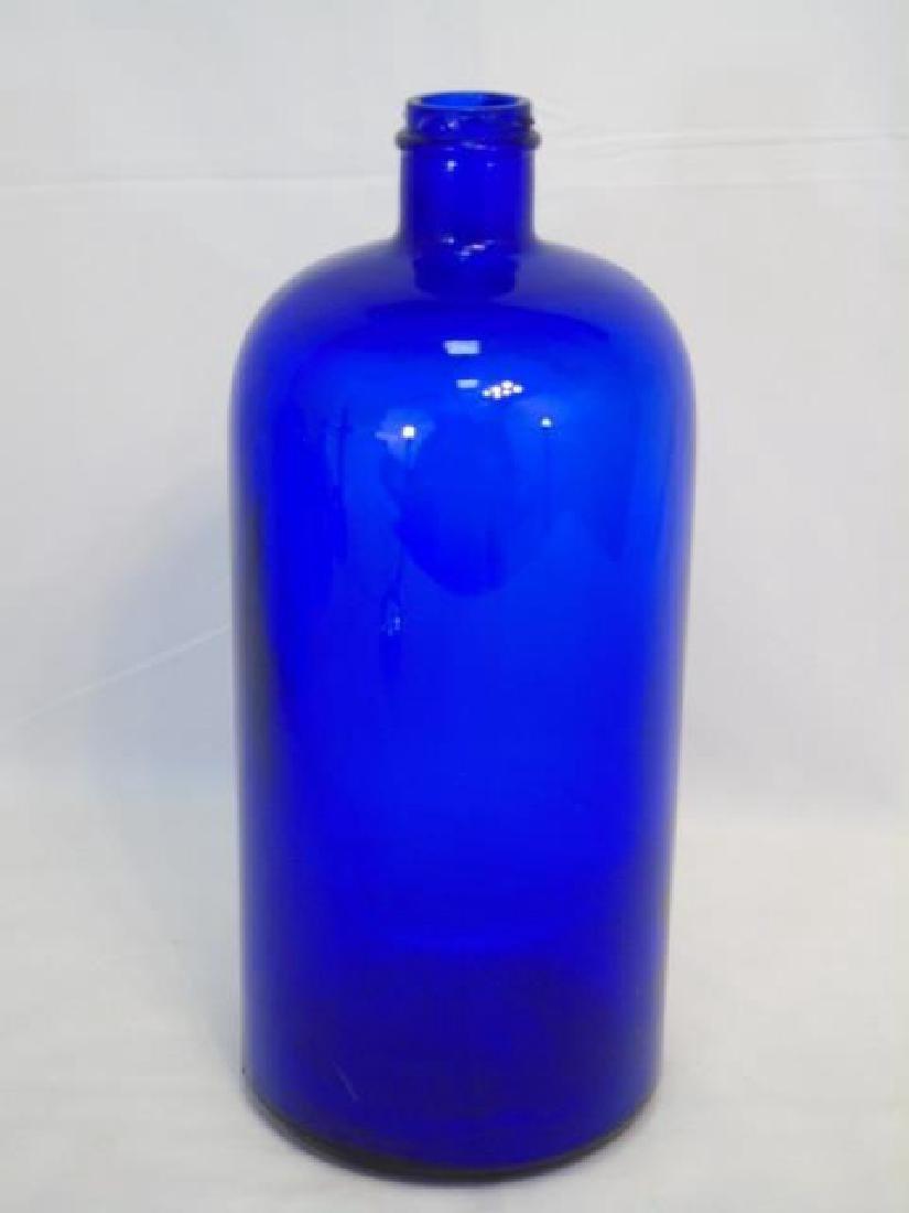 4 Antique & Vintage Cobalt Blue Glass Items - 2