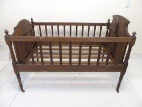 Antique Victorian Folding Child Size Bed / Cradle