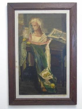 LN Donato Oil on Canvas Painting Greek Still Life