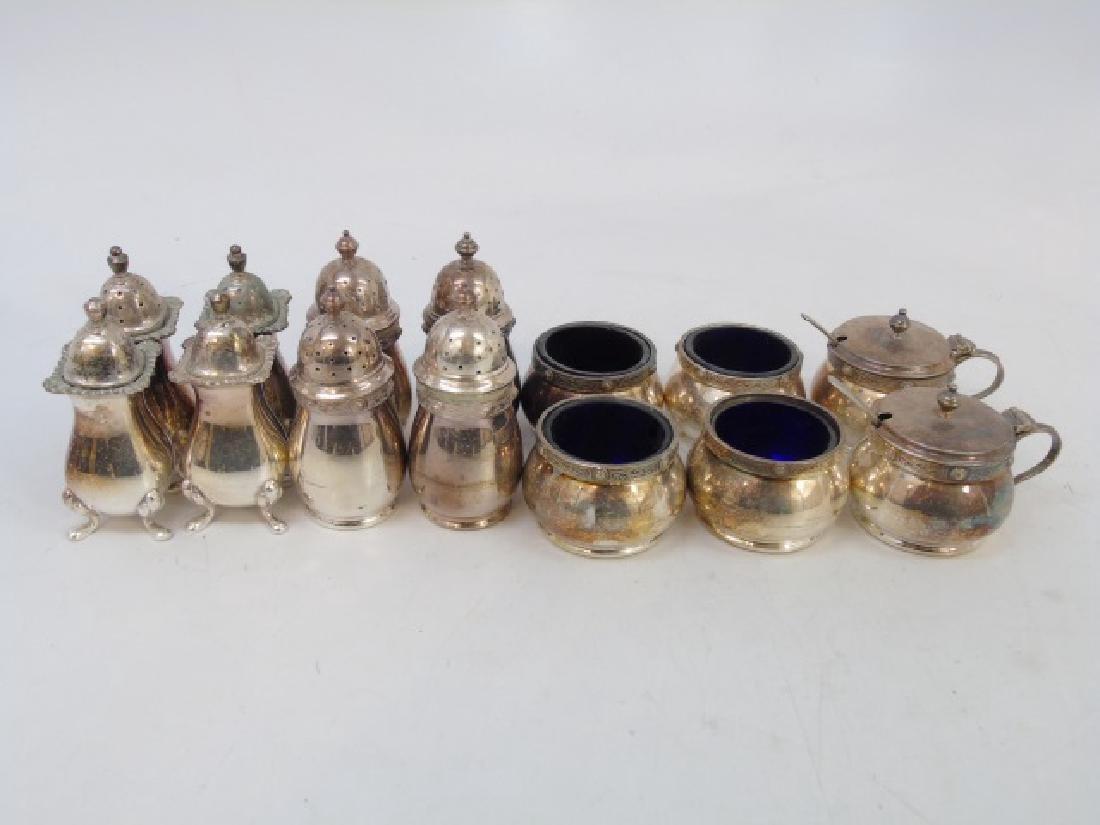 Garrard & Co Silver Plate Salt & Pepper Sets