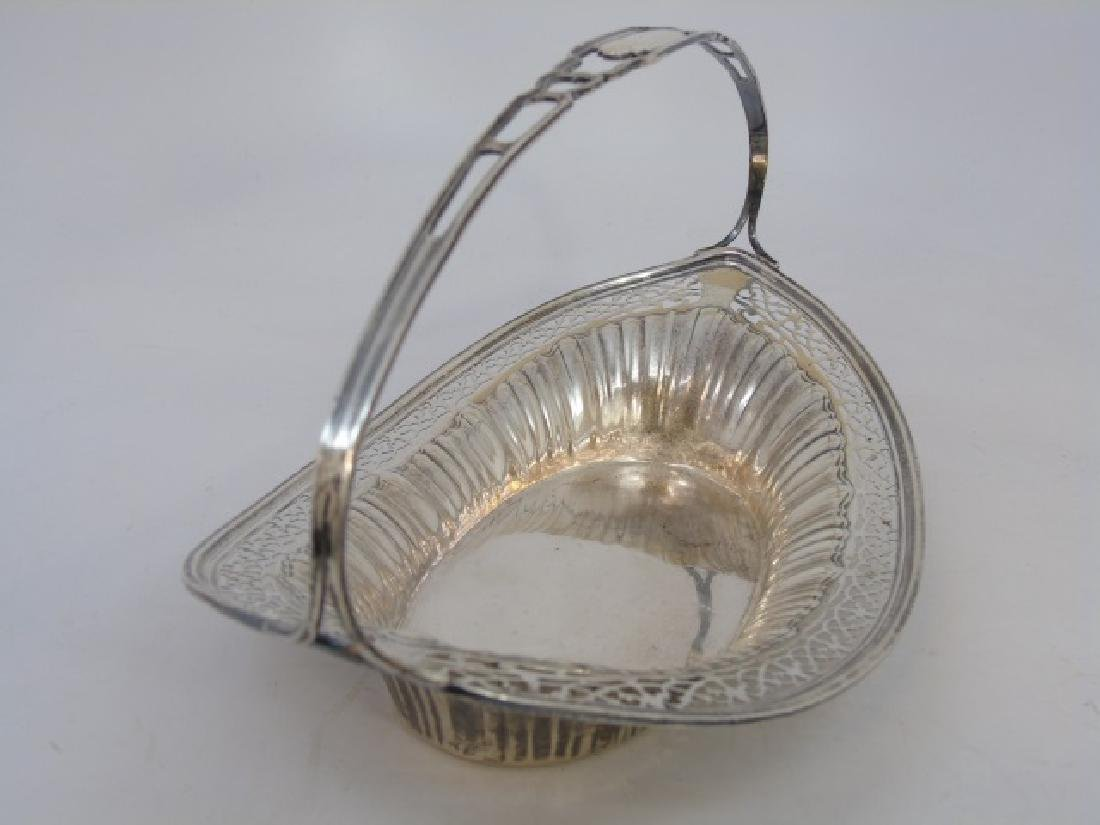 Antique English Sterling Silver Reticulated Basket