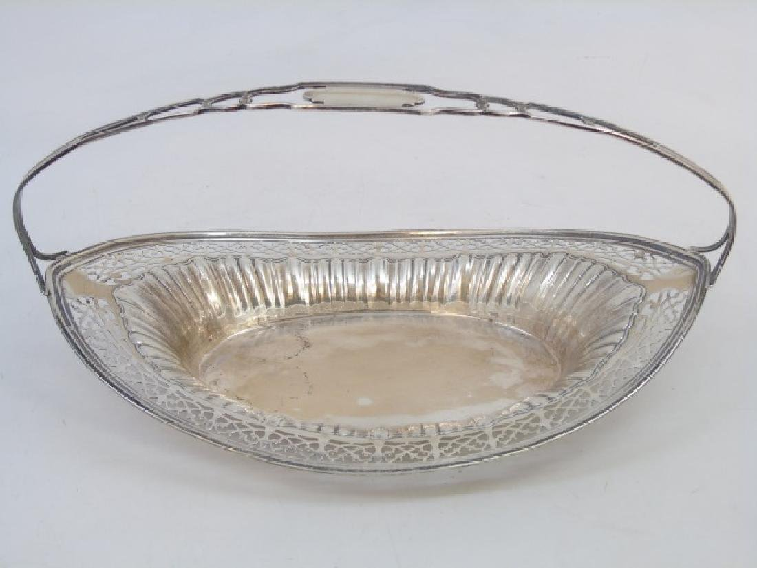 Antique English Sterling Silver Reticulated Basket - 3