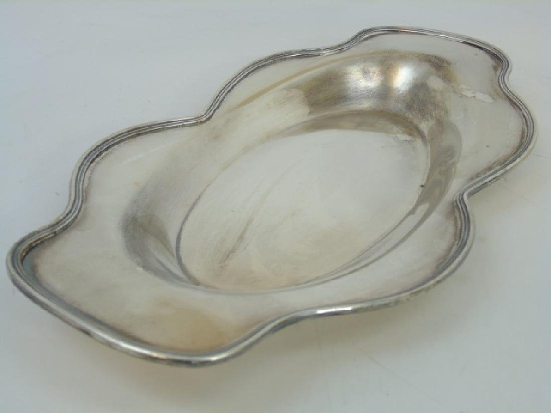 Scalloped Edge Sterling Silver Serving Tray