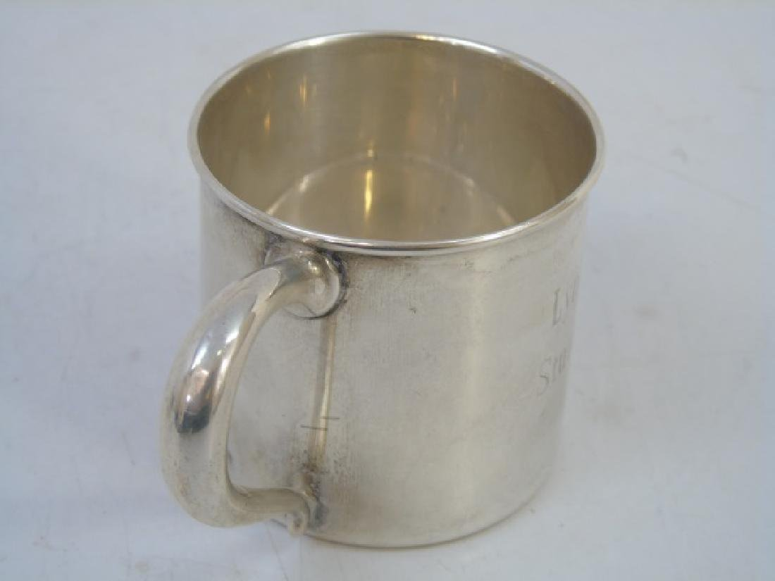 Two Sterling Silver Baby Cups & Silver Kiddush Cup - 4