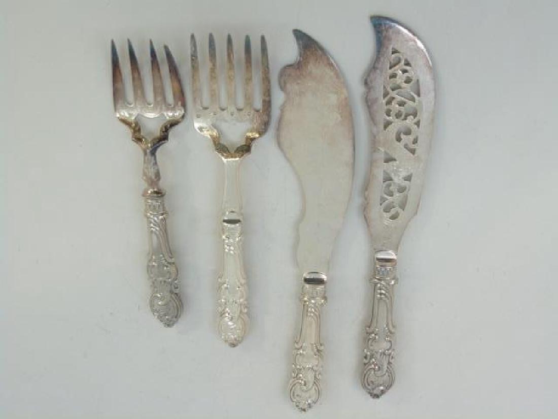 Antique Victorian Silver Plate Fish Serving Set