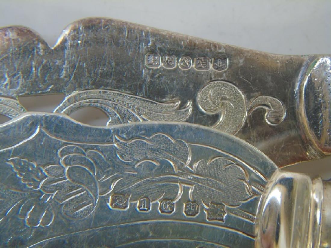 Antique Victorian Silver Plate Fish Serving Set - 4