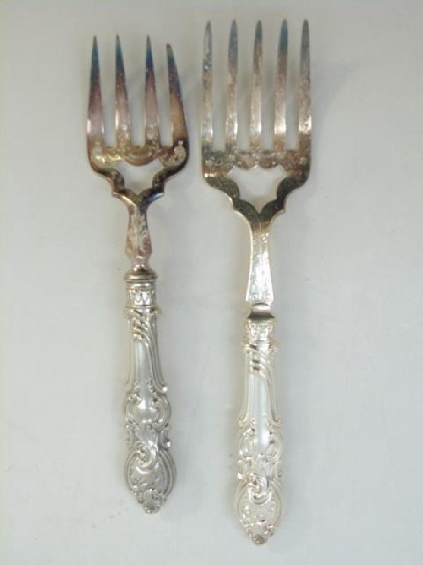 Antique Victorian Silver Plate Fish Serving Set - 5