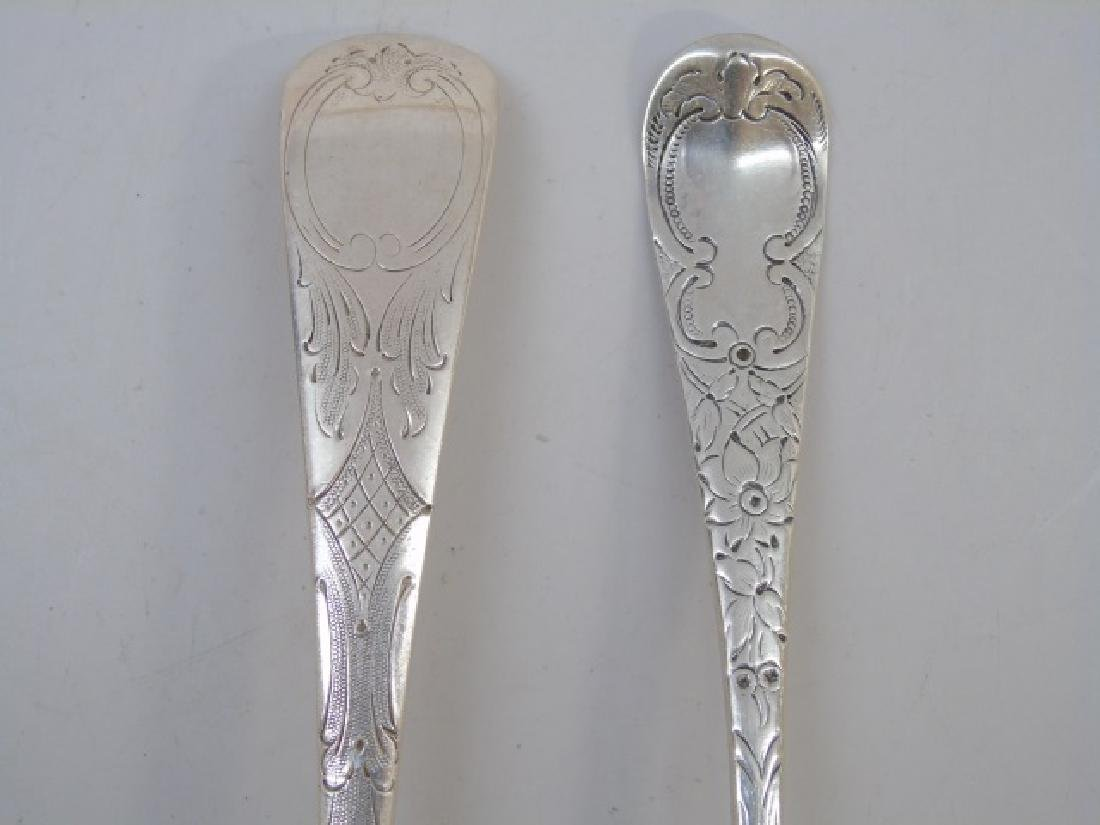 Five Sterling & Silver Plate Repousse Fruit Spoons - 3