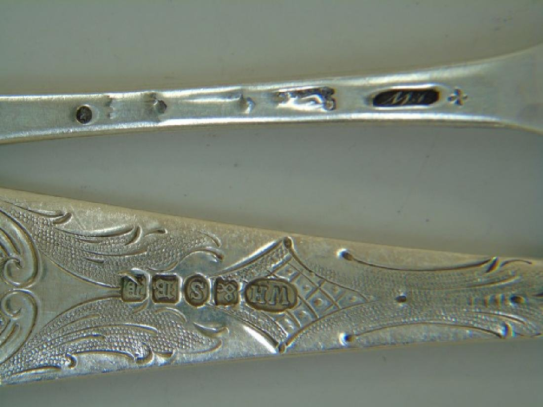 Five Sterling & Silver Plate Repousse Fruit Spoons - 4
