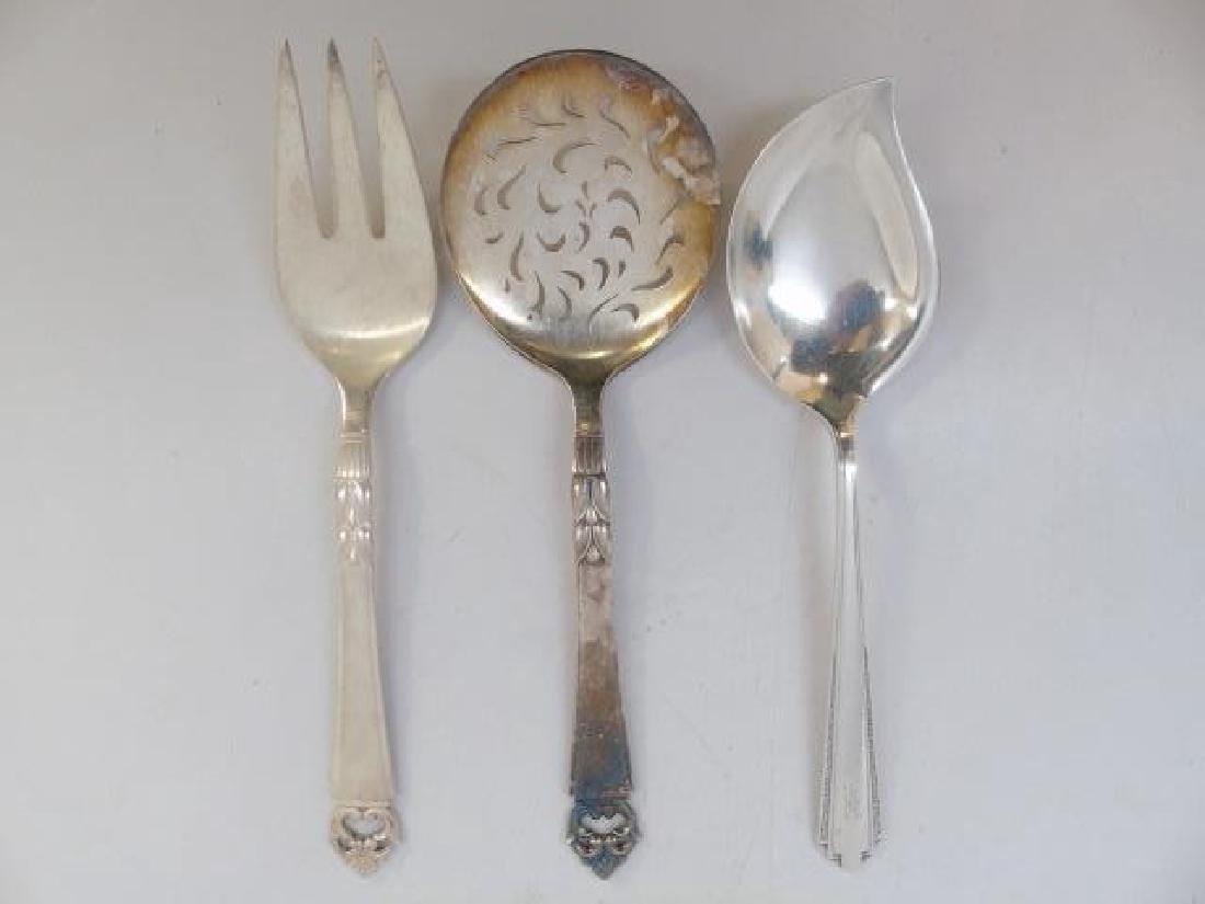 3 Large Sterling Silver Serving Utensils