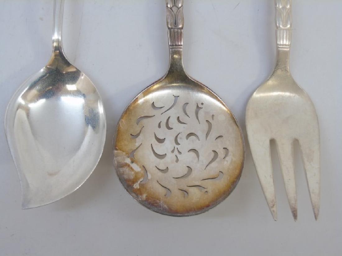 3 Large Sterling Silver Serving Utensils - 3
