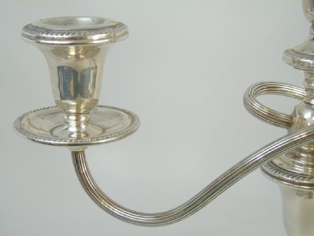 Sterling Silver Swirl-Design Triple Candelabra - 3