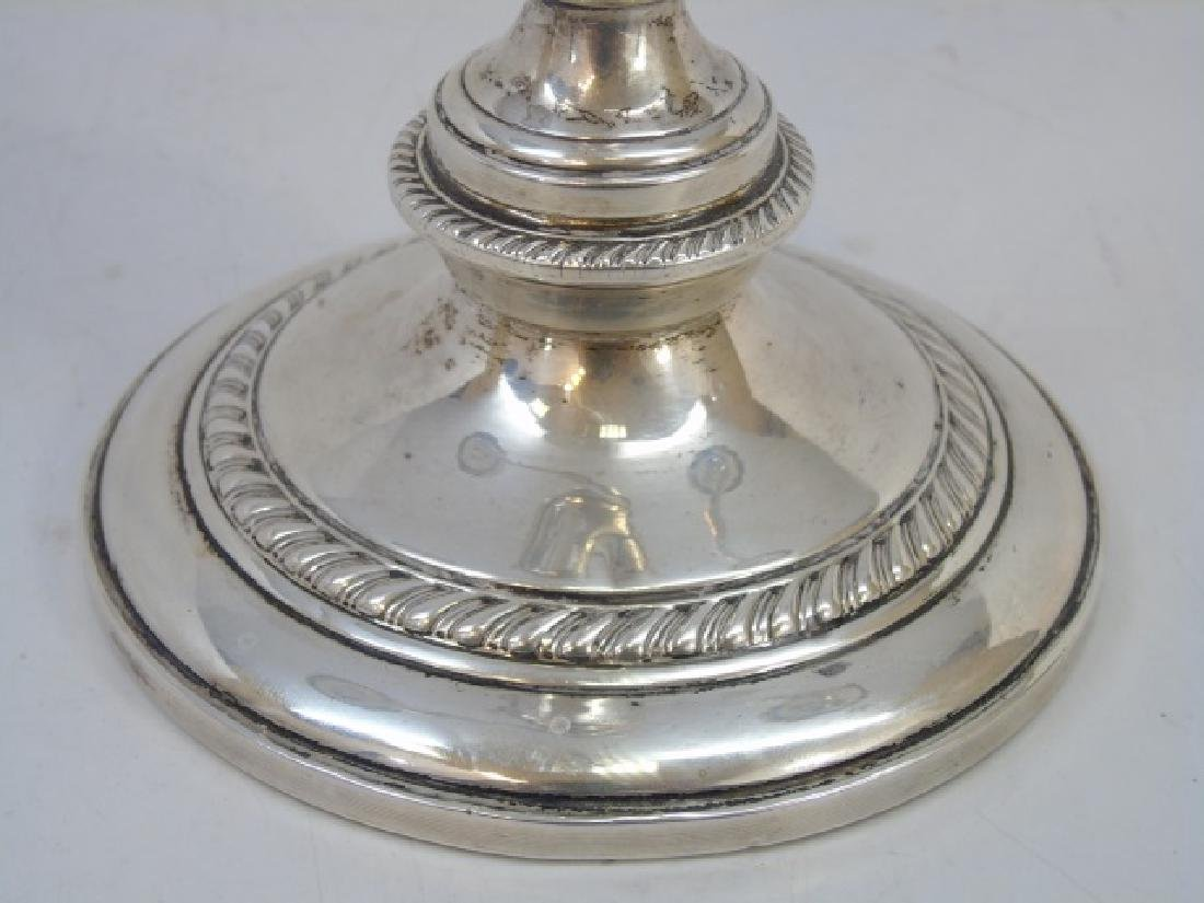Sterling Silver Swirl-Design Triple Candelabra - 4
