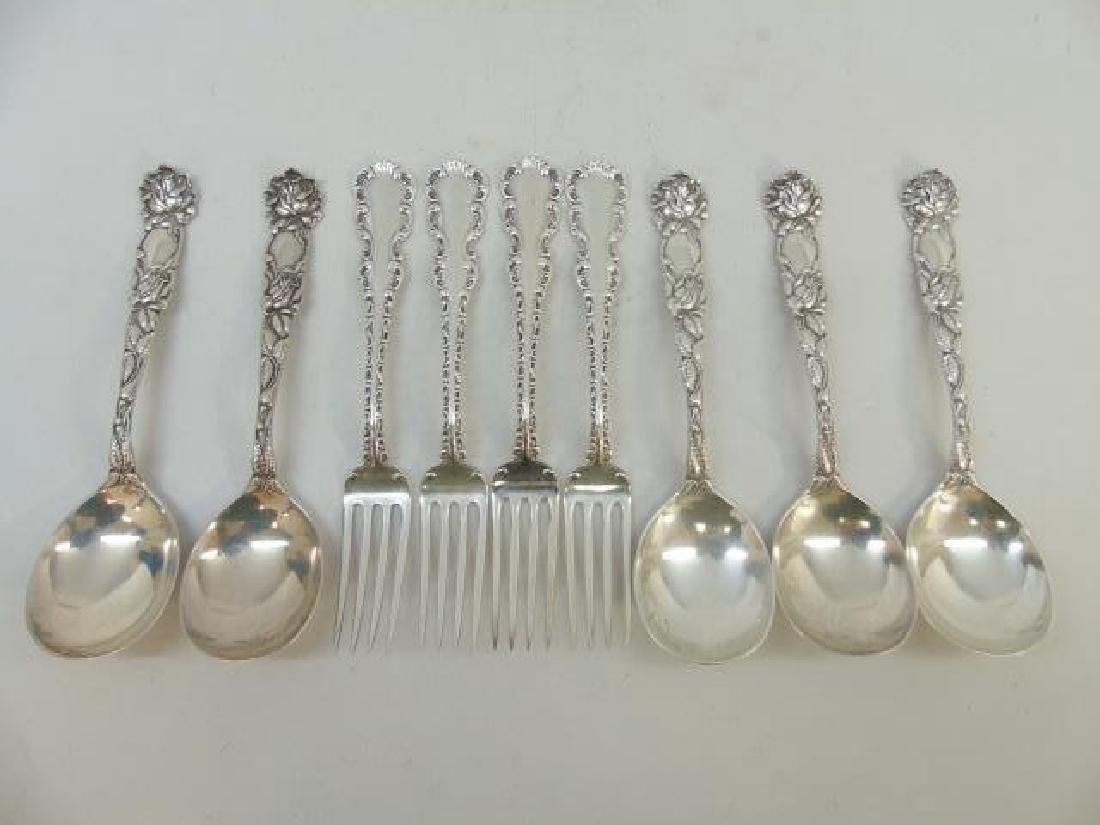 Antique Sterling Silver - Set of Forks & Spoons