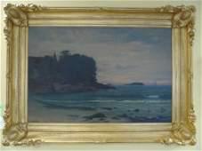 Henry Pember Smith Oil on Canvas Twilight Seashore