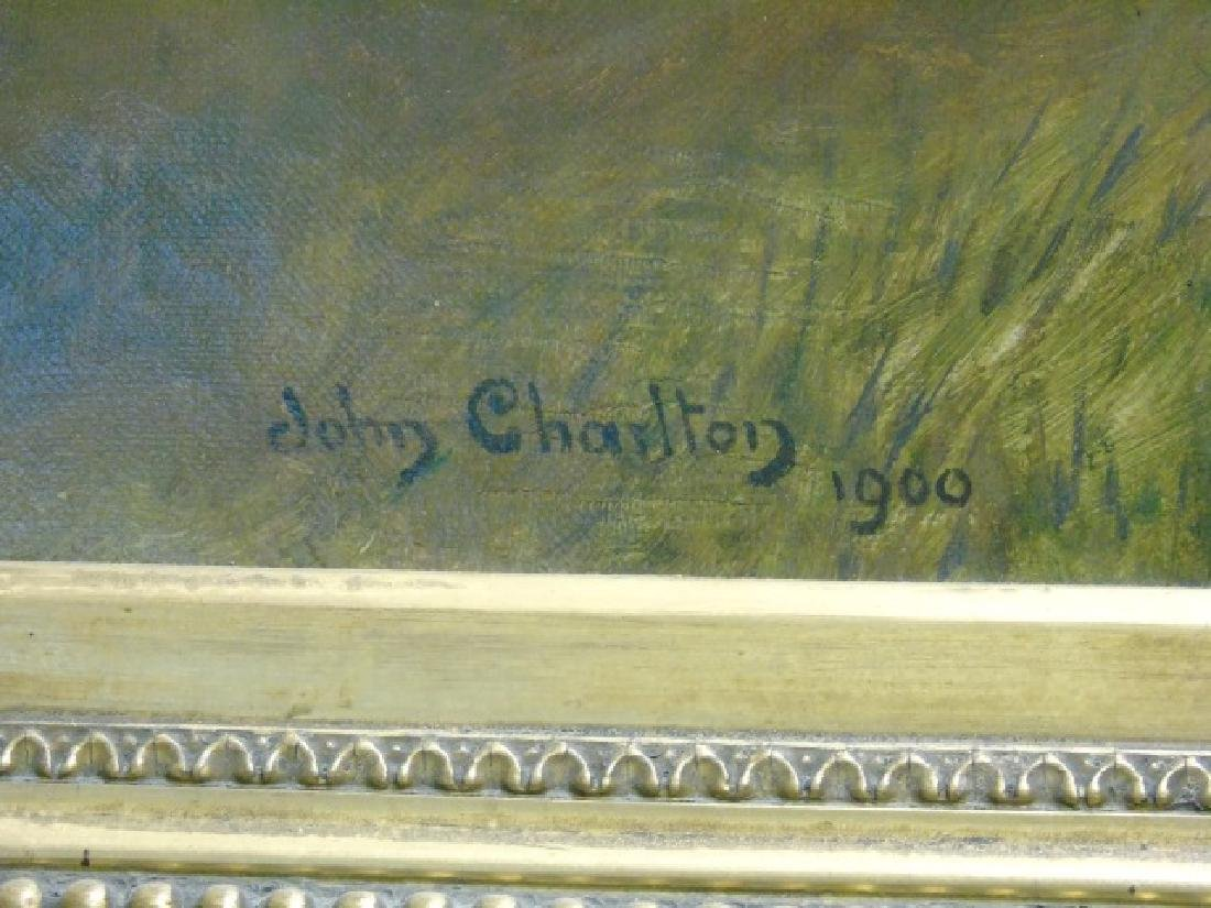 John Charlton Oil on Canvas Cavalry Charge Boers - 2