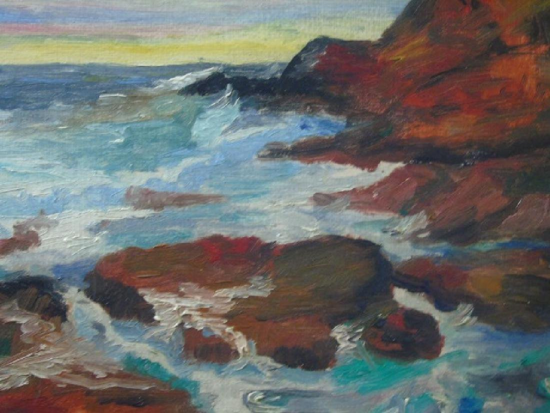 Emile Albert Gruppe Oil on Canvas Rocky Coastline - 2