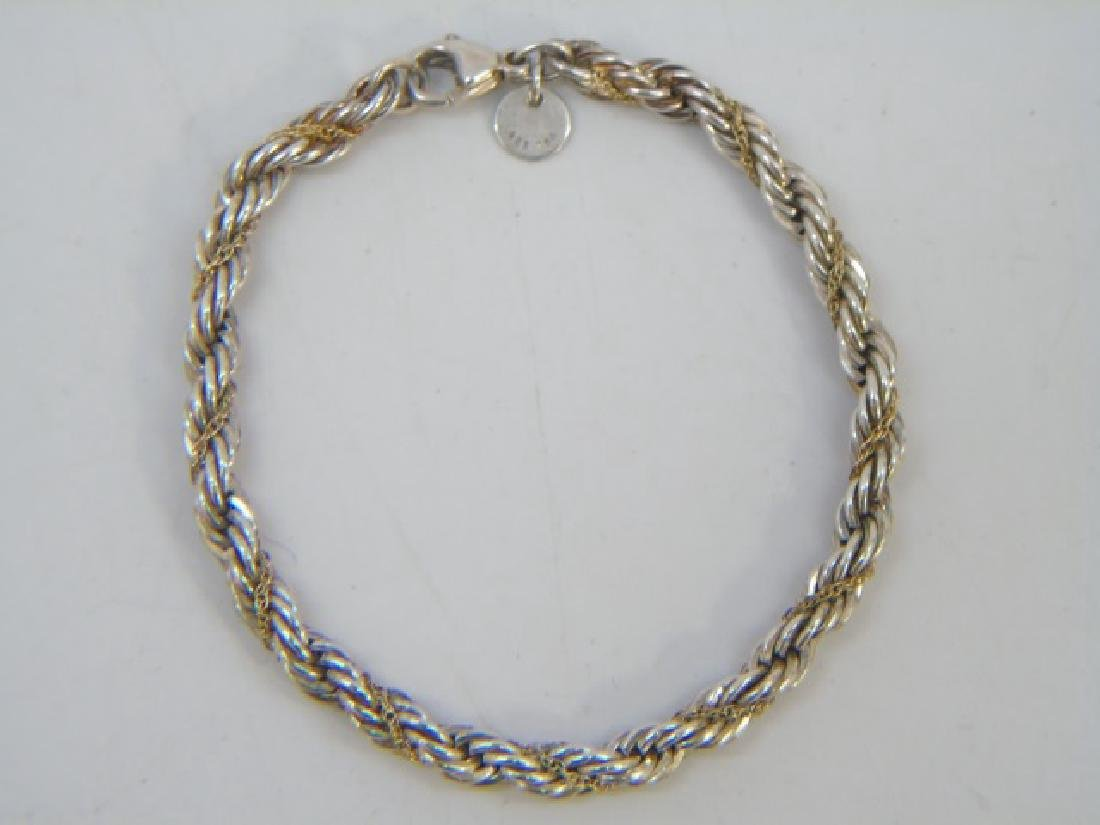 Tiffany & Co Sterling & 18kt Gold Twist Bracelet - 4