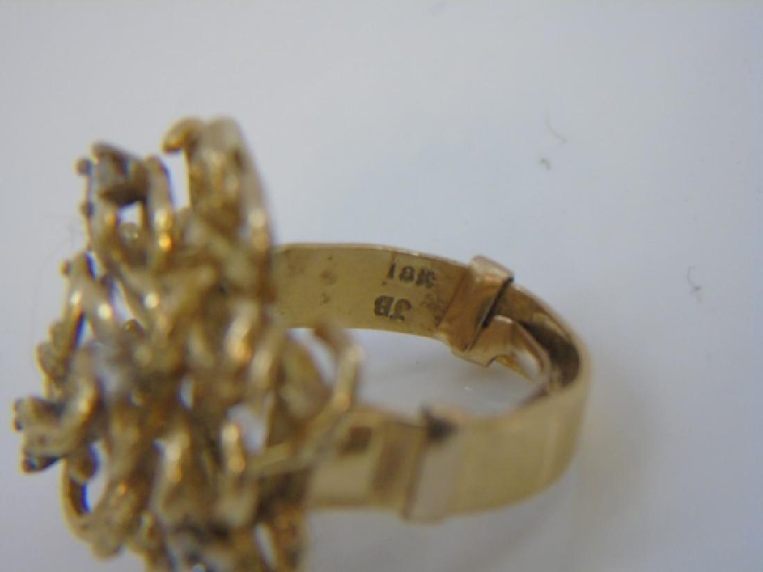Estate Custom Made Diamond & 18kt Gold Ring - 3