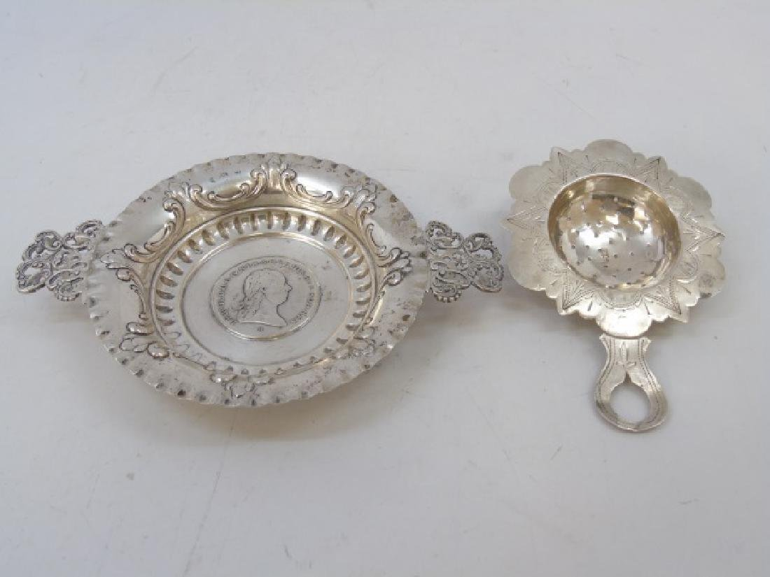 Two Russian / German Coin Mounted Silver Items
