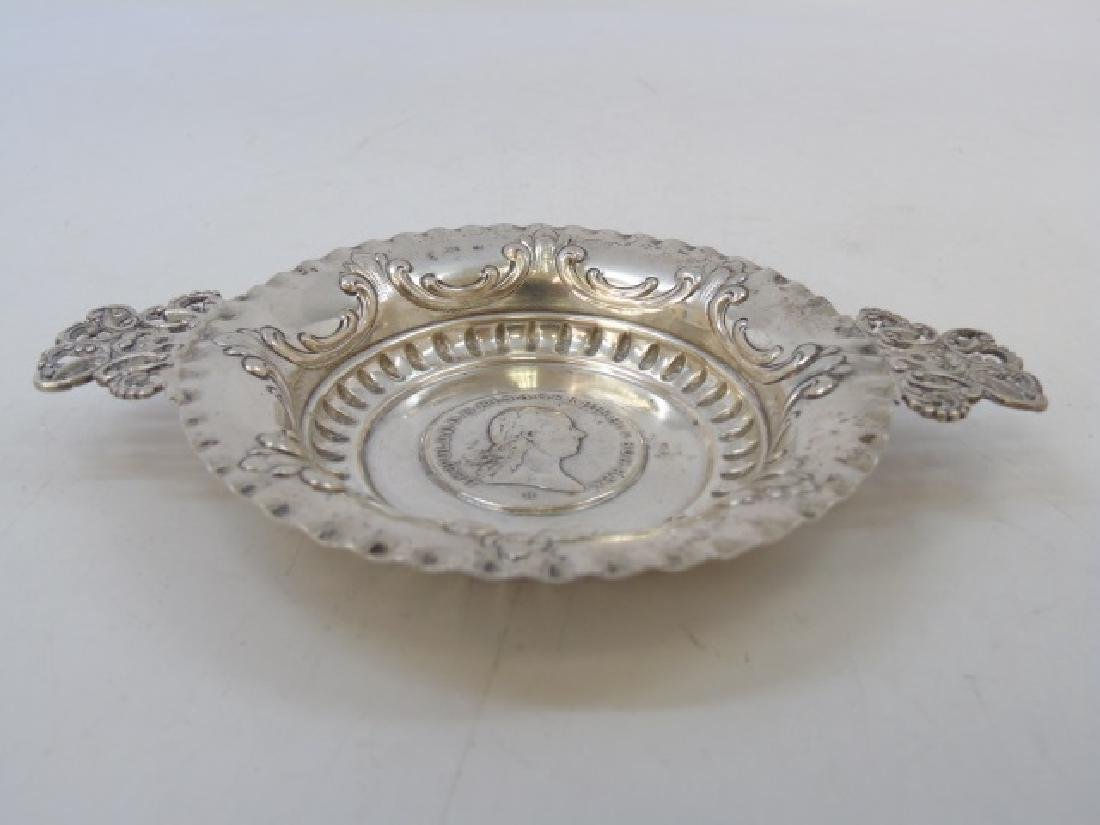 Two Russian / German Coin Mounted Silver Items - 7